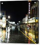 The Boardwalk At Night Acrylic Print