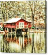 The Boat House Acrylic Print