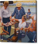 The Boat Party Acrylic Print by Diane Caudle