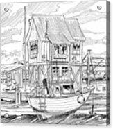 The Boathouse Acrylic Print