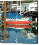 The Boats Of Sausilito Acrylic Print