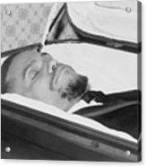 The Body Of Malcolm X, Slain Negro Acrylic Print by Everett