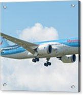 The Boeing 787-8 G-tuif Landing Thomson Tui Airline Acrylic Print