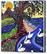 The Bonny Swans Acrylic Print