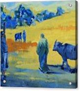 The Boom Man And The Buffalo Acrylic Print