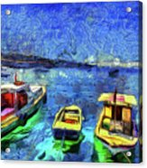 The Bosphorus Istanbul Art Acrylic Print