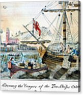 The Boston Tea Party, 1773 Acrylic Print