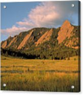 The Boulder Flatirons Acrylic Print by Jerry McElroy