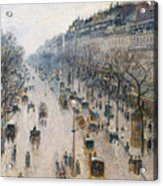 The Boulevard Montmartre On A Winter Morning, 1897  Acrylic Print