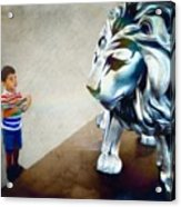 The Boy And The Lion 10 Acrylic Print