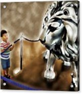 The Boy And The Lion 13 Acrylic Print
