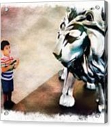 The Boy And The Lion 9 Acrylic Print