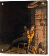 The Boyhood Of Lincoln Acrylic Print