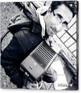The Brave Accordion Player Acrylic Print