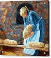 The Breadbaker Acrylic Print