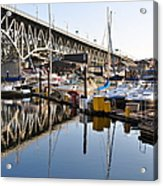 The Bridge And Marina Acrylic Print