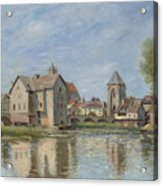 The Bridge And Mills Of Moret Sur Loing Acrylic Print