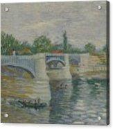 The Bridge At Courbevoie Paris, May - July 1887 Vincent Van Gogh 1853  1890 Acrylic Print