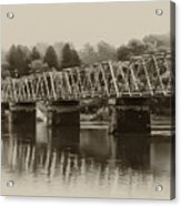 The Bridge At Washingtons Crossing Acrylic Print by Bill Cannon