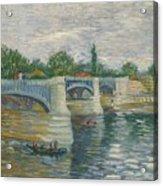 The Bridge Of Courbevoie, Paris Acrylic Print