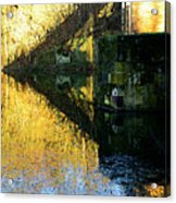 The Bridge On The River And Its Shadow. Acrylic Print