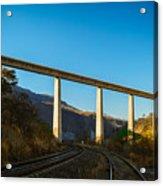 The Bridge Over The Railways Acrylic Print