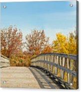 The Bridge To Autumn Acrylic Print