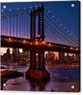 The Bridges At Dusk Acrylic Print
