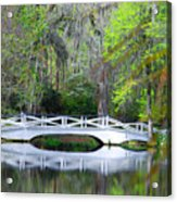 The Bridges In Magnolia Gardens Acrylic Print