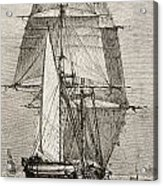The Brig Hms Beagle From Journal Of Acrylic Print