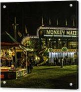 The Bright Carnival Night Lights Acrylic Print