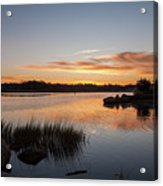 The Brink - Pawcatuck River Sunrise Acrylic Print