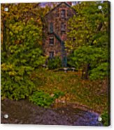 The Bronx River Stone Mill Acrylic Print