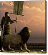 The Bronze Knight Of The Isle Of Lions Acrylic Print