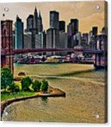 Vintage Brooklyn Bridge Acrylic Print