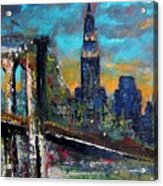 The Brooklyn Bridge Acrylic Print