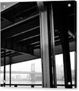 The Brooklyng Bridge And Manhattan Bridge From Fdr Drive Acrylic Print