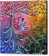 The Buddha Started Acrylic Print
