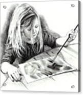The Budding Artist Acrylic Print