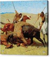 The Buffalo Hunt Acrylic Print