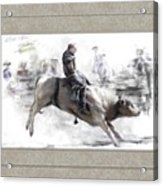 The Bull Rider Acrylic Print