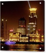 The Bund - Shanghai's Magnificent Historic Waterfront Acrylic Print by Christine Till
