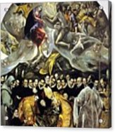 The Burial Of The Count Of Orgaz 1587 Acrylic Print