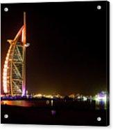 The Burj Al Arab At Night Acrylic Print
