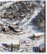 The Busy Chaudanne In Meribel The Heart Of Meribel In The Three Valleys Resort France Acrylic Print