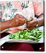 The Butterbean Lady Acrylic Print