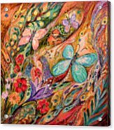 The Butterflies On Wind Acrylic Print