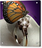 The Butterfly And The Engagement Ring Acrylic Print