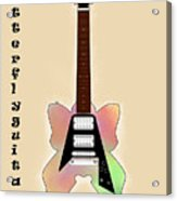 The Butterfly Guitar Acrylic Print