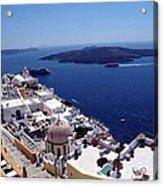The Caldera, Santorini Acrylic Print